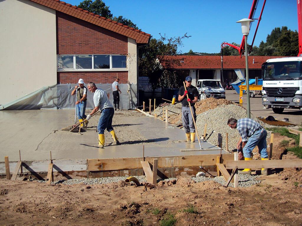 Anbau einer Maschinenhalle in Ebergötzen