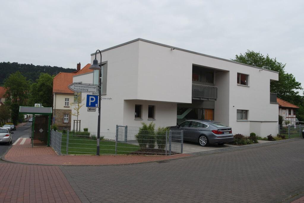 moderne stadtvilla mit flachdach in hardegsen busch