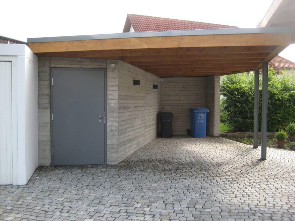 Herstellung Carport mit Abstellraum
