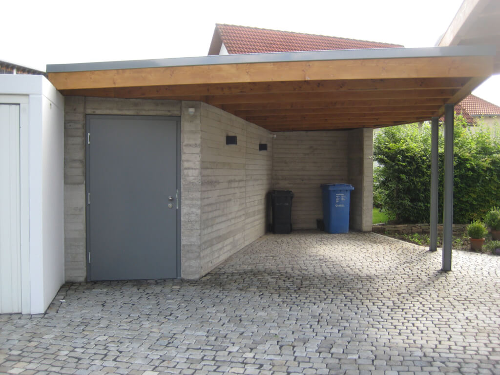 Herstellung Carport mit Abstellraum - Busch Bauunternehmen